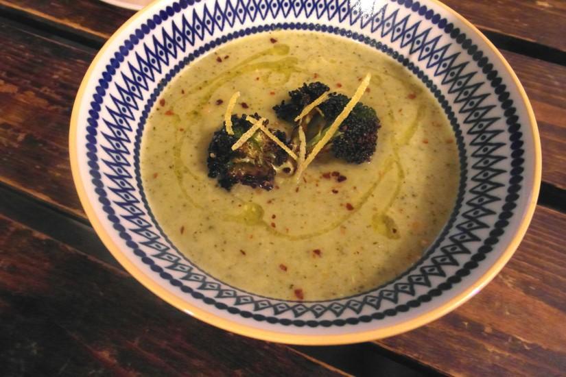 Broccoli gorgonzola soep, hoofd