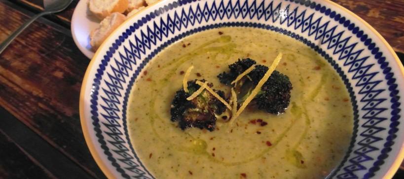 Broccoli gorgonzola soep, tekst