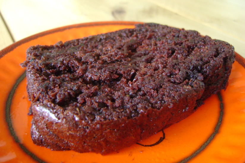 Chocoladecake met courgette