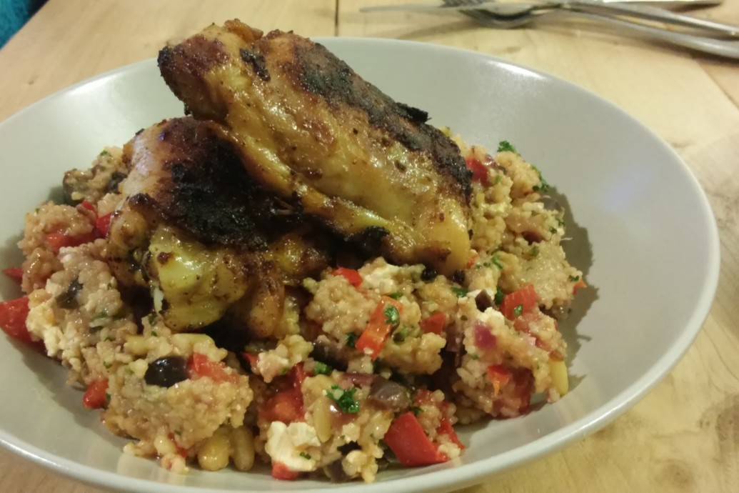 Kruidige kip met frisse couscous